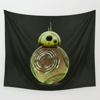 boba Wall Tapestries featuring BB8 boba fett by Daniac Design