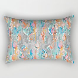rainy day balinese ikat mini Rectangular Pillow