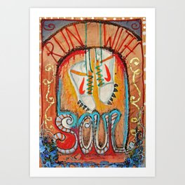 Run with Soul  Art Print