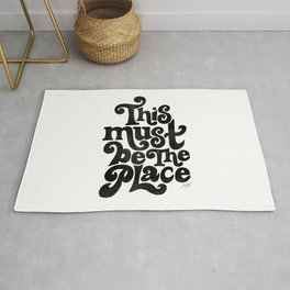 This Must Be The Place (Black Palette) Rug