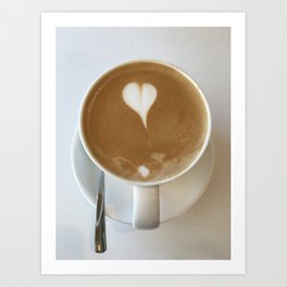 Hot Coffee Love Art Print
