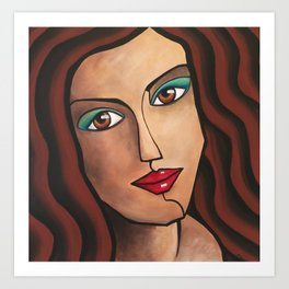 Middle East Woman Art Print