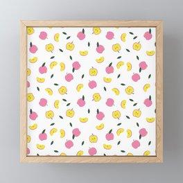 Pink Apples Pattern Framed Mini Art Print