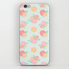 Pastel floral iPhone Skin