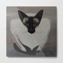 The Siamese Cat Metal Print