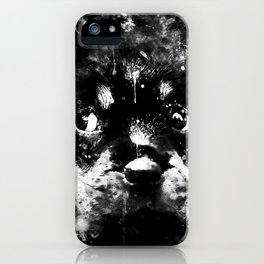 rottweiler puppy dog ws bw iPhone Case
