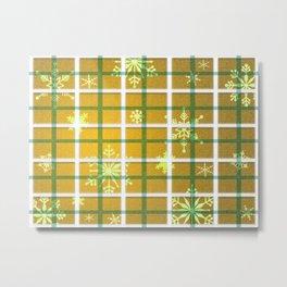 Gamboge Sycamore Snowflakes Metal Print