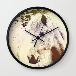 Colored Pony Wall Clock