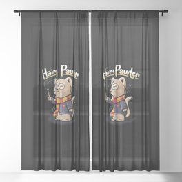 Hairy Pawter Sheer Curtain