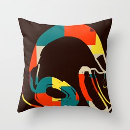 Funky Headphones for all Your Beats #DigitalArt #Cool Throw Pillow