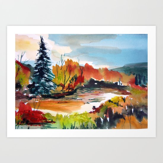 Autumn Color Art Print