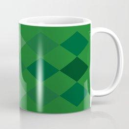 Green Argyle Pattern Coffee Mug