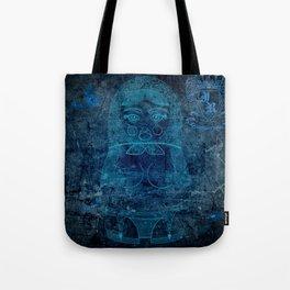 Blueprint X (background) Matryoshka / Nesting Doll Tote Bag