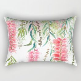 bottle brush tree flower Rectangular Pillow