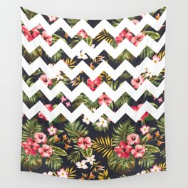 Floral Chevron Wall Tapestry
