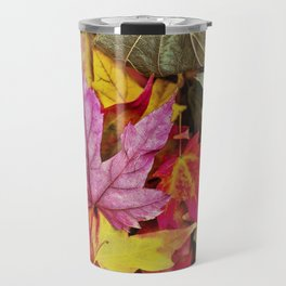 Autumn colorful leaves mountain Travel Mug