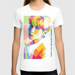 Kim Jong Hyun In Pop Art T-shirt
