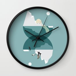 North and south Wall Clock