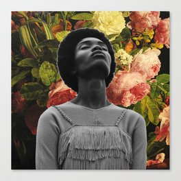 Head full of flowers Canvas Print