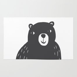 Bear Print – Charcoal and White by Tasha Johnson Rug