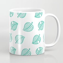 animal crossing leaf pattern Coffee Mug