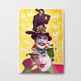 The Popping Joker Metal Print