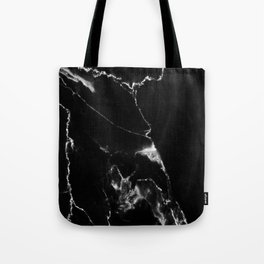 Black Marble I Tote Bag