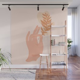 Abstraction_NAMASTE_LOVE_Minimalism_001 Wall Mural