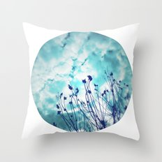 Branches and Cloudy Sky Throw Pillow
