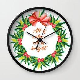 Silent Holy Night Calm Bright Christmas Carol Design Wall Clock
