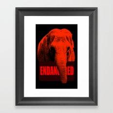 Endangered Asian Elephant Framed Art Print