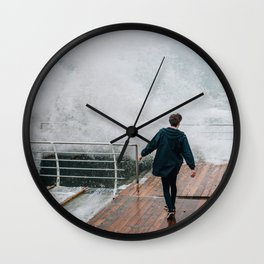 Storm in Odessa Wall Clock