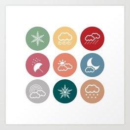 Weather symbol Art Print