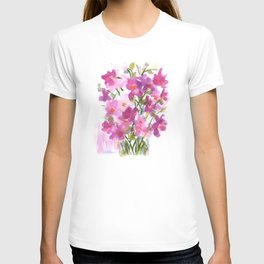 Pink Cosmos Bouquet T-shirt