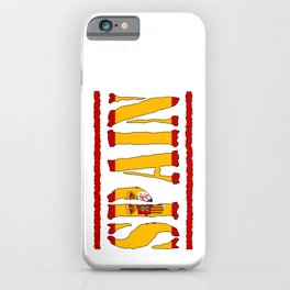 Spain Font with Spanish Flag iPhone Case