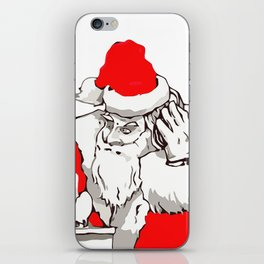 Merry Christmas DJ Santa Nonstop Remix iPhone Skin