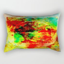 Subtle Form - Abstract colour painting Rectangular Pillow