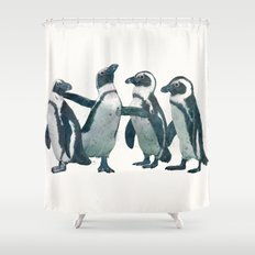 penguin party Shower Curtain