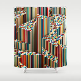 Stretched Pattern Shower Curtain