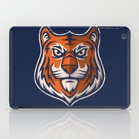 shield iPad Cases featuring Tiger Shield by WanderingBert / David Creighton-Pester