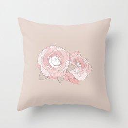 PEONIA - SAND - Sorbetedelimón Throw Pillow