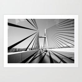 HongKong Bridge Art Print