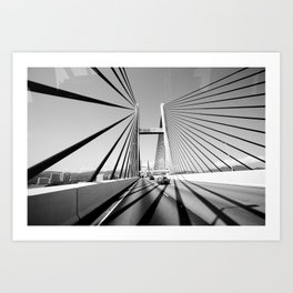HongKong Bridge Art Print
