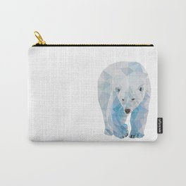 Geometric Polar Bear Carry-All Pouch