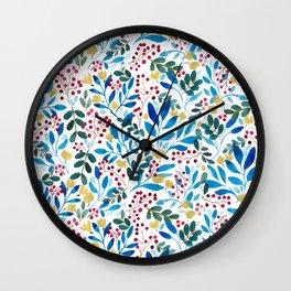 Fall Flavors Wall Clock