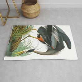 Great Blue Heron by John James Audubon Rug
