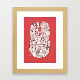 Adulthood - Mashup Framed Art Print