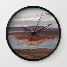 Cutting Through Lake Powell Wall Clock