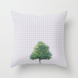 Oranges and Lines Throw Pillow