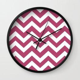 Raspberry rose - violet color - Zigzag Chevron Pattern Wall Clock